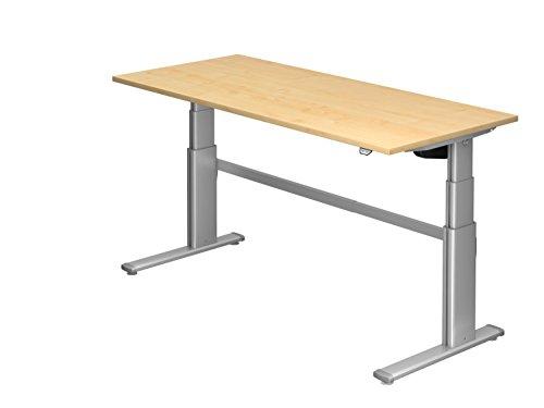 Ergobasis Sitz-Stehtisch, rechtecktisch 180x80cm, Dekor: wählbar