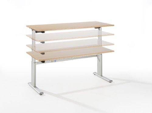 Ergobasis Sitz-Stehtisch, rechtecktisch 180x80cm, Dekor: wählbar - 2