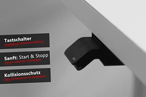 Bümö® elektrisch höhenverstellbarer Büroschreibtisch in 1200×800 oder 1600×800, Dekor: wählbar - 2