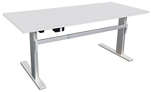 Elektrisch höhenverstellbarer Schreibtisch 160x80cm, lichtgrau