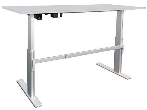 Elektrisch höhenverstellbarer Schreibtisch 160x80cm, lichtgrau - 2
