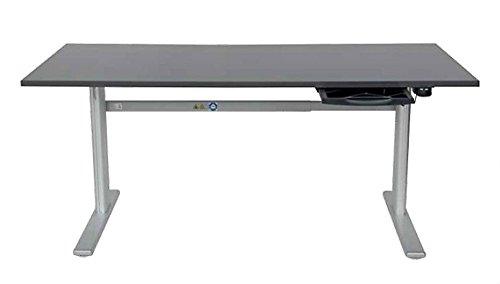 Elektrisch höhenverstellbarer Schreibtisch 160×80cm, anthrazit