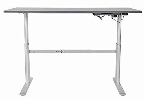 Höhenverstellbarer Schreibtisch in Anthrazit, Elektrisch B 160 cm x T 80 cm Bürotisch Arbeitstisch - 2