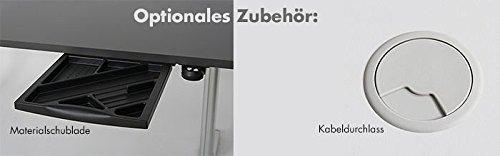 Höhenverstellbarer Schreibtisch in Anthrazit, Elektrisch B 160 cm x T 80 cm Bürotisch Arbeitstisch - 7