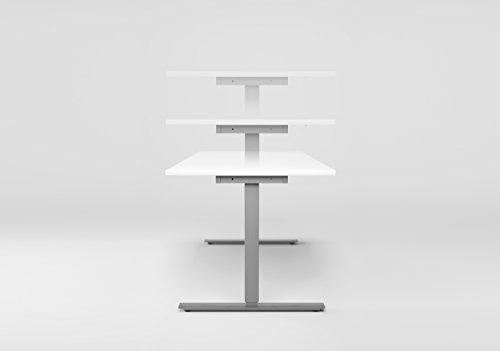 Geramöbel elektrisch höhenverstellbarer Schreibtisch 120x80xcm - 4