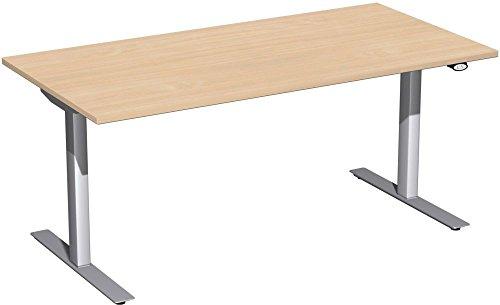 Elektrisch höhenverstellbarer Schreibtisch 160x80x68-116cm, Dekor: wählbar
