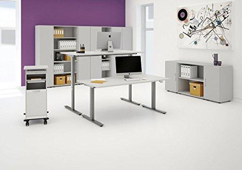 elektrisch höhenverstellbarer Schreibtisch 1600x800x680-1160, Dekor: wählbar - 3
