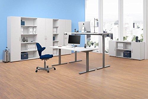 elektrisch höhenverstellbarer Schreibtisch 1600x800x680-1160, Dekor: wählbar - 4