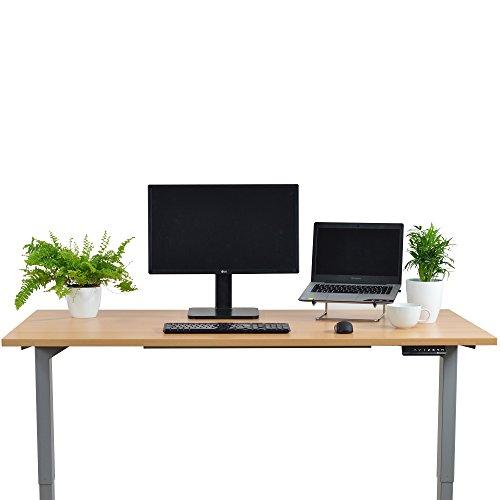 Elektrisch höhenverstellbarer Schreibtisch mit Memory Funktion, 5 Jahre Garantie, 160x80cm, buche - 2