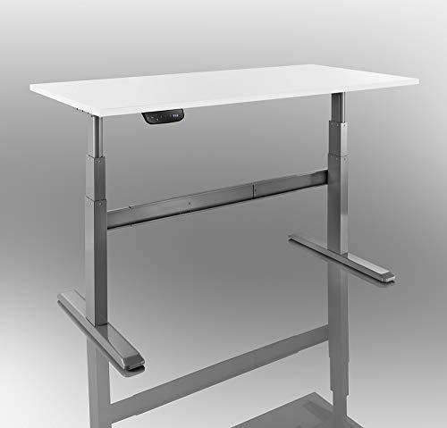 Ergonomischer Steh-Sitz Tisch, 175x75x650-120cm, grau