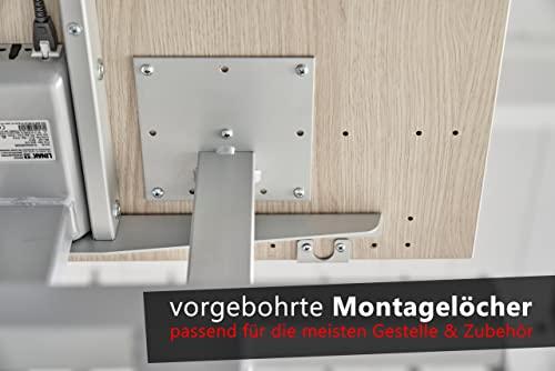Bümö® stabile Tischplatte 2,5 cm stark – DIY Schreibtischplatte aus Holz - 5