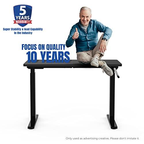 Flexispot H2B Höhenverstellbarer Schreibtisch Kurbelverstellbares Tischgestell, Passt für Alle Gängigen Tischplatten. - 2