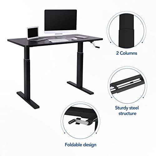 Flexispot H2B Höhenverstellbarer Schreibtisch Kurbelverstellbares Tischgestell, Passt für Alle Gängigen Tischplatten. - 4