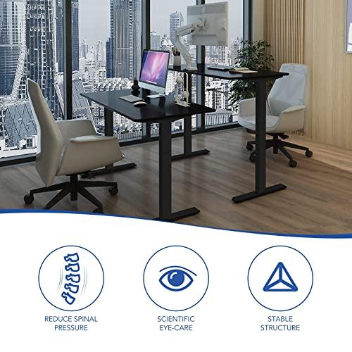 Flexispot H2B Höhenverstellbarer Schreibtisch Kurbelverstellbares Tischgestell, Passt für Alle Gängigen Tischplatten. - 6